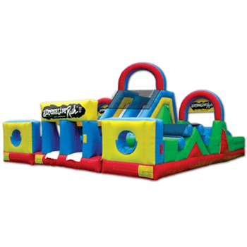 The Adrenaline Rush II Inflatable Obstacle Course