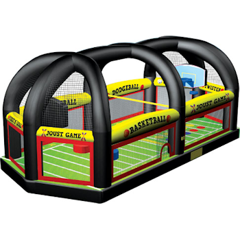 Party Rental Inflatable: All-In-1 Sports Interactive