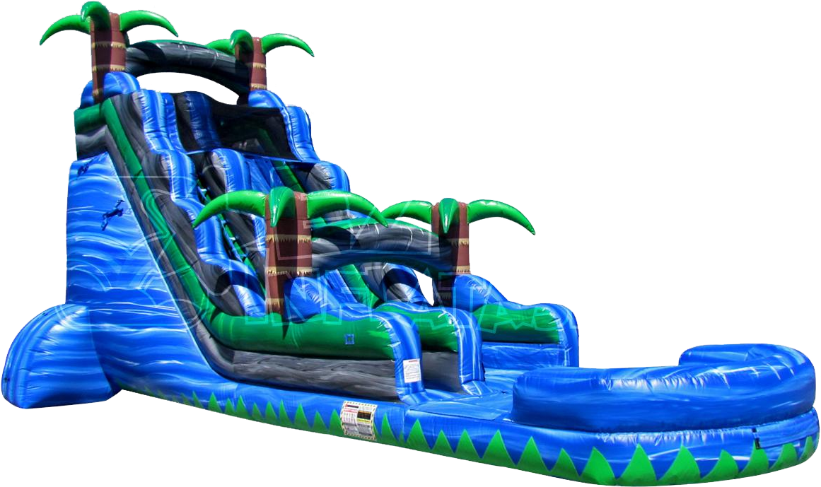 The Blue Crush Inflatable Water Slide