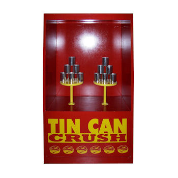 The Tin Can Crush Carnival Game