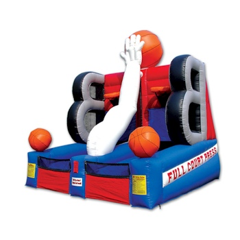 Party Rental Inflatable: Basketball Sports Interactive