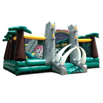 Party Rental Inflatable: Jurassic Adventure Obstacle Course