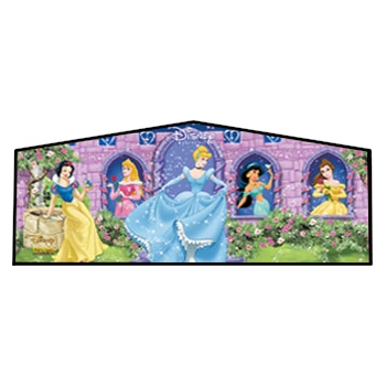 Party Rental Moonwalk Theme Panel: Disney Princess