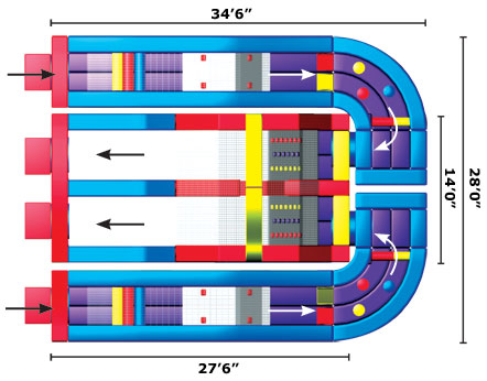 Schematic of The Ultimate Module Challenge Inflatable Obstacle Course