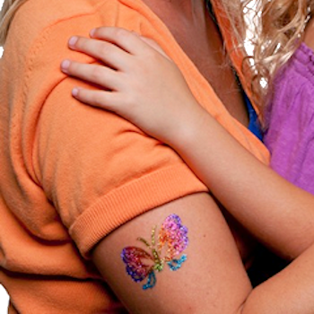 Party Rental Crafts: Glimmer Body Art