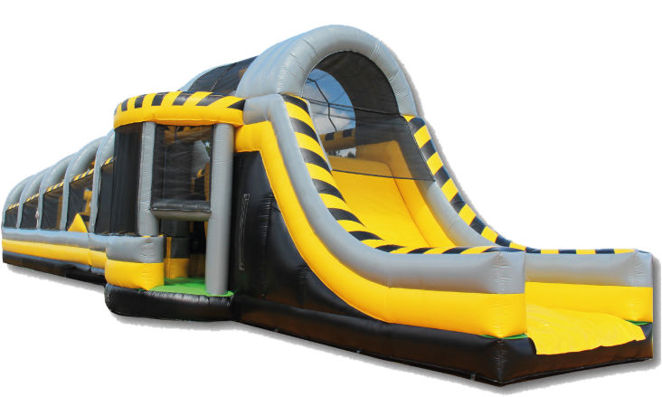 Party Rental Inflatable: The Toxic Drop Obstacle Course