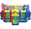 Party Rental Inflatable: Soccer, Basketball, Volleyball Sports Interactive