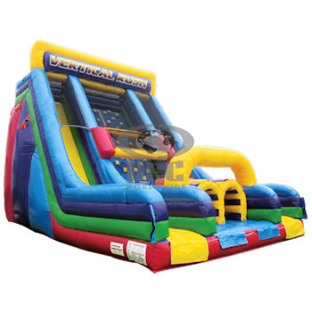 Party Rental Inflatable: Vertical Rush Climbing Wall & Slide