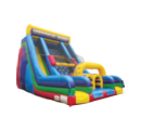 Party Rental Inflatable: Vertical Rush Climbing Wall & Dual Slides
